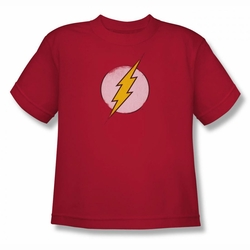 DC Comics youth teen t-shirt Rough Flash Logo red