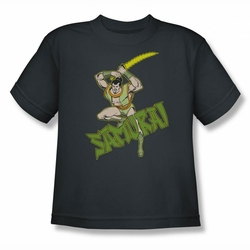 DC Comics youth teen t-shirt Samurai charcoal