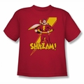 Shazam! youth teen t-shirt Shazam! red