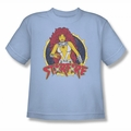 DC Comics youth teen t-shirt Starfire light blue