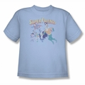 DC Comics youth teen t-shirt Super Friends light blue