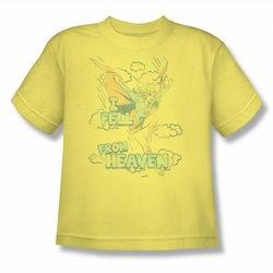 DC Comics youth teen t-shirt Supergirl I Fell from Heaven  banana