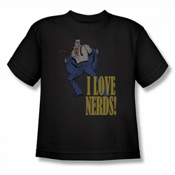 DC Comics youth teen t-shirt Superman I Love Nerds black