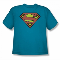 DC Comics youth teen t-shirt Superman Logo turquoise