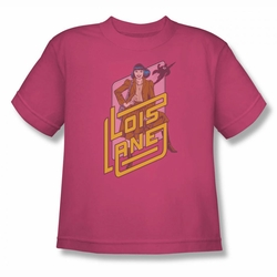 DC Comics youth teen t-shirt Superman Lois Lane hot pink
