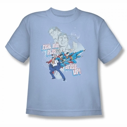 DC Comics youth teen t-shirt Superman Real Men light blue