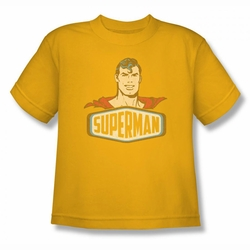 DC Comics youth teen t-shirt Superman Sign gold