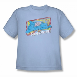 DC Comics youth teen t-shirt Superman Supermobile light blue
