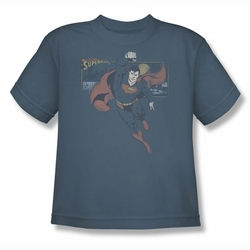 DC Comics youth teen t-shirt Superman This Is A Job For slate