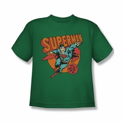 DC Comics youth teen t-shirt Superman This Looks Like a Job For Me kelly green