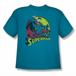DC Comics youth teen t-shirt Superman turquoise