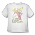 DC Comics youth teen t-shirt The Flash I Got Fast Moves white