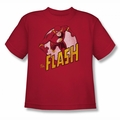 DC Comics youth teen t-shirt The Flash red