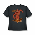 DC Comics youth teen t-shirt The Flash Whirlwind charcoal