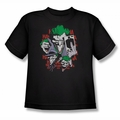 DC Comics youth teen t-shirt The Joker Four Of A Kind black
