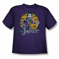DC Comics youth teen t-shirt The Joker purple