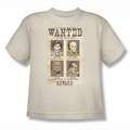 DC Comics youth teen t-shirt Villains Wanted Poster cream