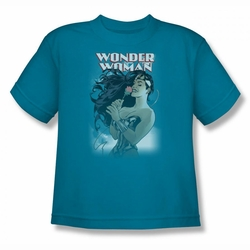 DC Comics youth teen t-shirt Wonder Woman  #178 Cover turquoise