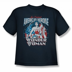 DC Comics youth teen t-shirt Wonder Woman American Heroine navy