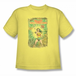 DC Comics youth teen t-shirt Wonder Woman Besieged Cover banana