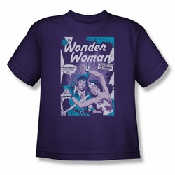 DC Comics youth teen t-shirt Wonder Woman Human Shield purple