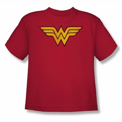 DC Comics youth teen t-shirt Wonder Woman Logo Dist red