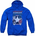 DC Comics youth teen hoodie 4 Stars royal blue