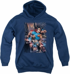DC Comics youth teen hoodie Action Comics #1 navy