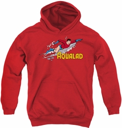DC Comics youth teen hoodie Aqualad red