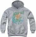 DC Comics youth teen hoodie Aquaman Marco athletic heather