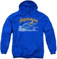 DC Comics youth teen hoodie Aquaman Swim royal blue