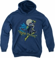 DC Comics youth teen hoodie Batgirl Night Person navy