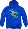 DC Comics youth teen hoodie Batgirl The Night Is Young royal blue