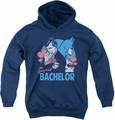 DC Comics youth teen hoodie Batman Bachelor navy