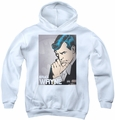 DC Comics youth teen hoodie Batman Bruce Wayne white