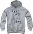 DC Comics youth teen hoodie Batman Card athletic heather