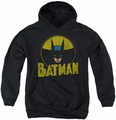 DC Comics youth teen hoodie Batman Circle Bat black