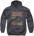 DC Comics youth teen hoodie Batman Detective #27 Distressed charcoal