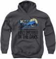 DC Comics youth teen hoodie Batman Get Dressed charcoal