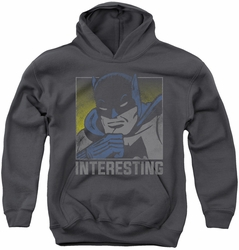 DC Comics youth teen hoodie Batman Interesting charcoal