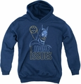 DC Comics youth teen hoodie Batman Issues navy