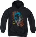 DC Comics youth teen hoodie Batman & Joker Broken Visage black