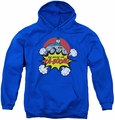 DC Comics youth teen hoodie Batman Kaboom royal blue