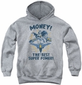 DC Comics youth teen hoodie Batman Money athletic heather