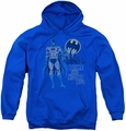 DC Comics youth teen hoodie Batman Night Life royal blue
