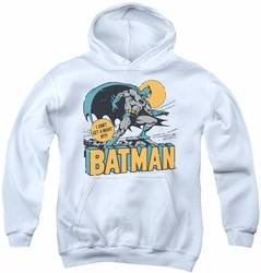 DC Comics youth teen hoodie Batman Night Off white