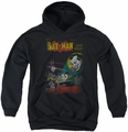 DC Comics youth teen hoodie Batman Wrong Signal black