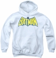 DC Comics youth teen hoodie Classic Batman Logo white