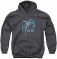 DC Comics youth teen hoodie Desaturated Batman charcoal
