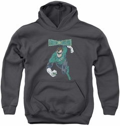 DC Comics youth teen hoodie Desaturated Green Lantern charcoal